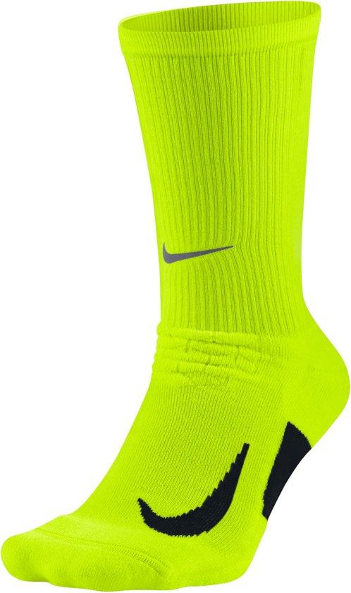 Nike Elite Cushioned Crew Hardloopsokken  Hardloopsokken - Maat 48-50 - Unisex - geel/zwart