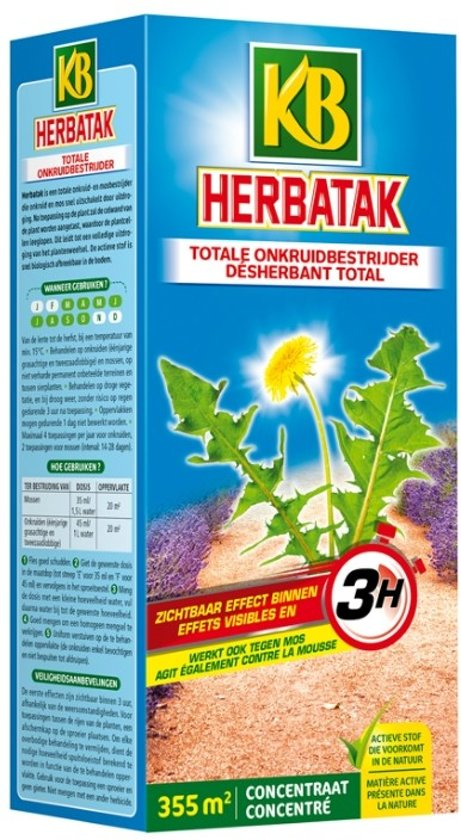Herbatak - totale onkruidbestrijder 800 ml - set van 2 stuks