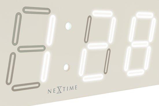 NeXtime Big D Digitale Wandklok 18 x 51,5 cm