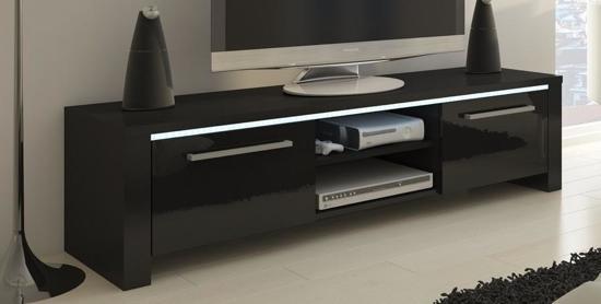 bol.com | TV meubel -TV kast Orlanda met LED verlichting (body zwart ...