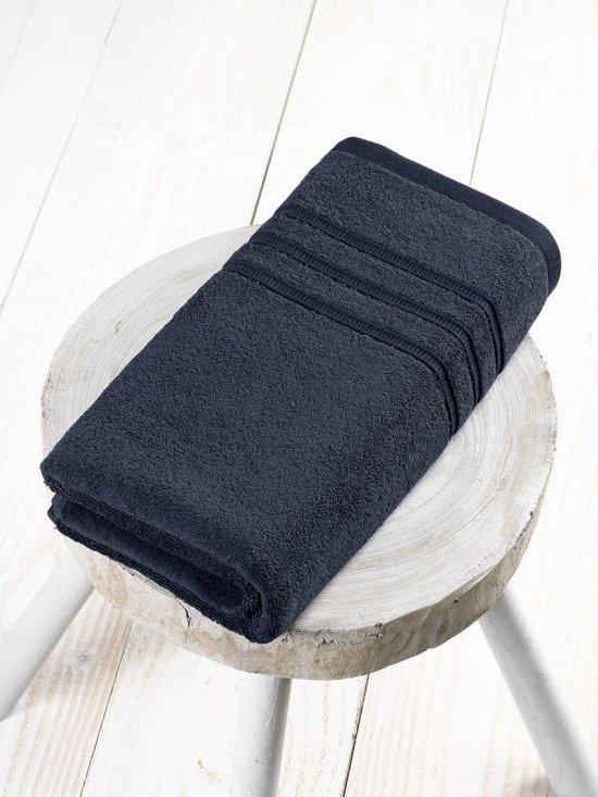 De Witte Lietaer Dolce Handdoek - Zwart 70x140