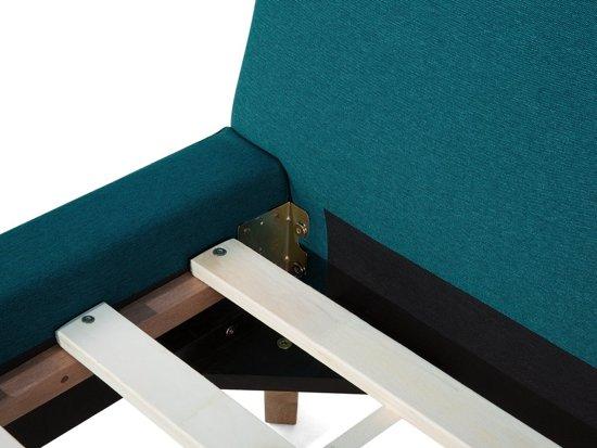 Beliani Vienne Bed Blauw polyester