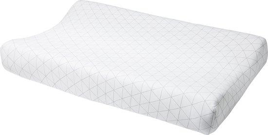 Meyco aankleedkussenhoes Triangle grijs/wit 45 x 70 cm