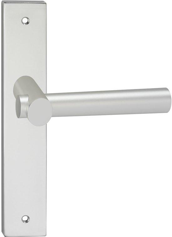Impresso Dover Deurbeslag - Voor binnen - Vierkant deurschild met schroeven - Aluminium