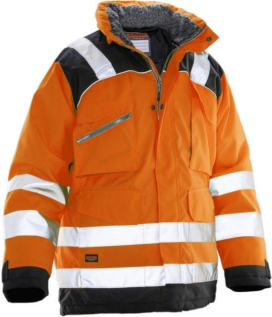 Jobman 1236 Winterparka Star Kl3 Oranje/Zwart maat XS