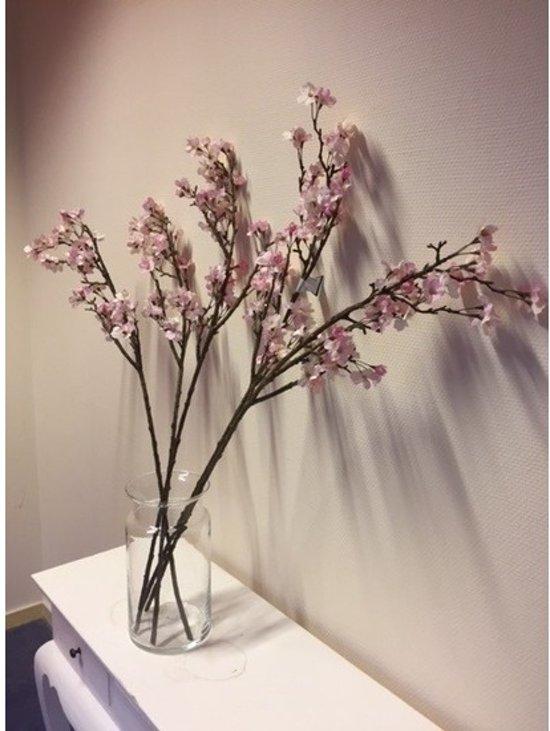 Beste bol.com | Vaas met 5 roze appelbloesem kunstbloemen takken 104 cm ZT-91