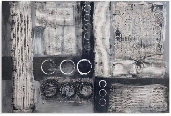 Schilderij - Abstract in grijs, wit en zwart, 1 deel