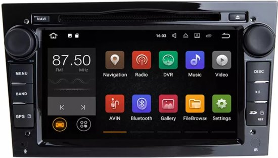 opel radio navigatie android zwart 7 inch