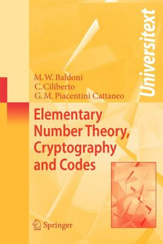 Elementary Number Theory, Cryptography and Codes (Universitext)