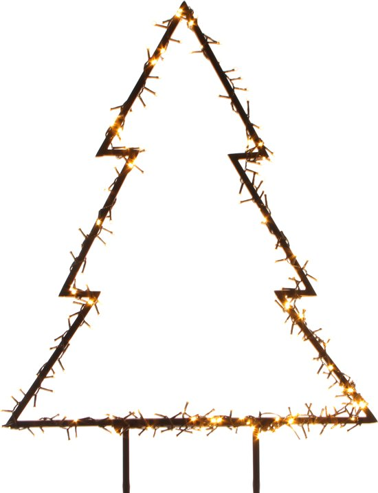 Verlichte kerstboom voor in de tuin 125 cm - 300 LED lampjes Valentinaa