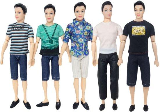 5 sets kleding voor mannelijke modepop zoals Ken