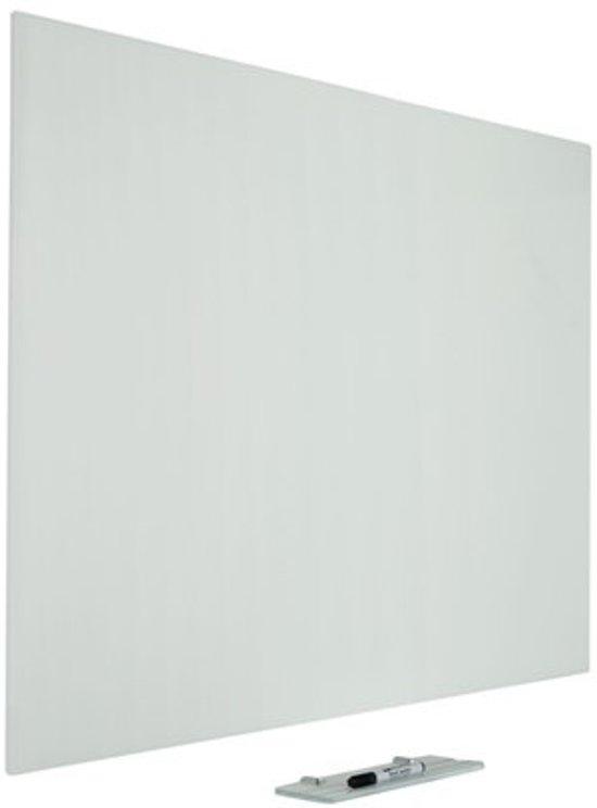 Glasbord Premium met onzichtbare ophang, wit 90x120 cm