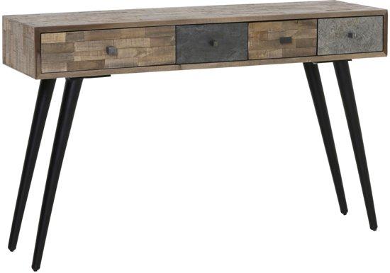 Grote Zwarte Sidetable.Light Living Sidetable Camarico Table 115x35x78 Cm Mix Hout Mat Zwart