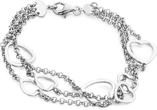 Majestine Armband - 925 Zilver - Hart - 18cm
