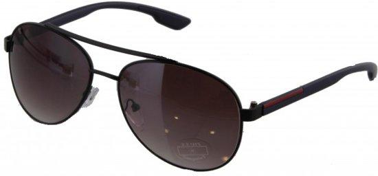 fd7f87352867f4 Trendy metalen zonnebril met donkere glazen en UV bescherming
