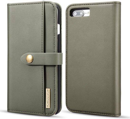 Apple iPhone 7/8 Plus Leren 2-in-1 Bookcase en Back Cover Hoesje Groen