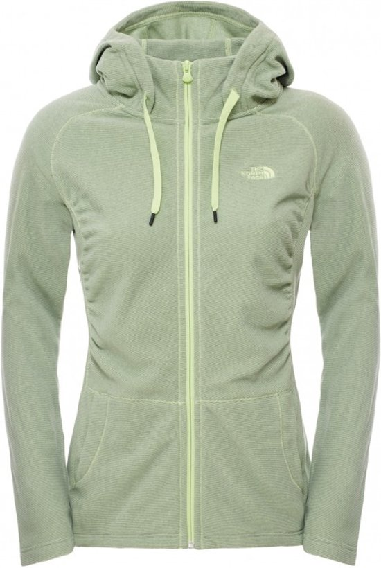 45c07f720b The North Face Mezzaluna Full Zip Hoodie - Outdoorvest - Dames - Green