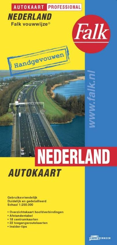 Falkplan - Nederland Autokaart Falk-vouwwijze