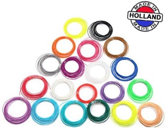 3D pen filament pakket 20 kleuren PLA
