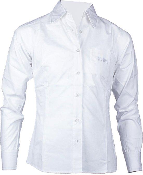 Piva schooluniform bloes lange mouwen  meisjes - wit - maat XL/42