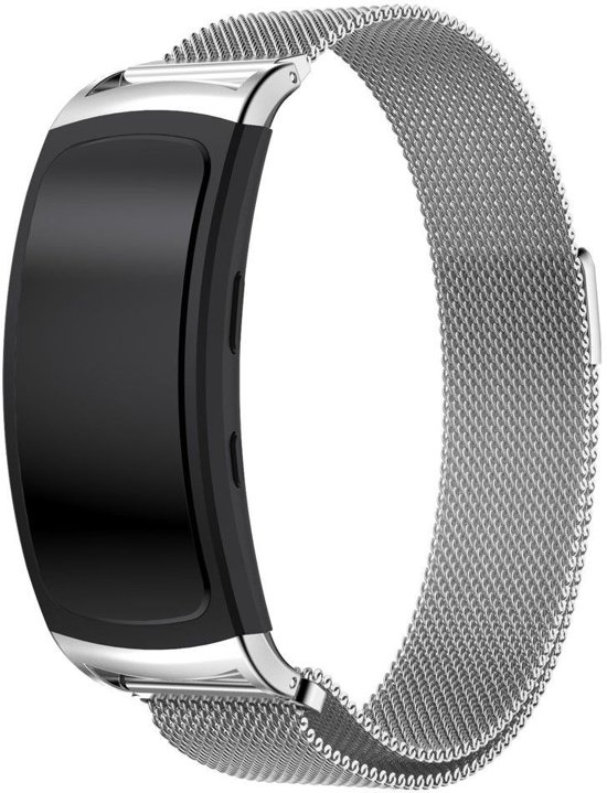 Samsung Gear Fit 2 Classic Milanees armband - Silver