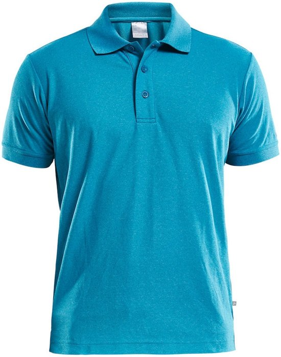 Craft Polo Shirt Pique Classic Men Blauw maat S