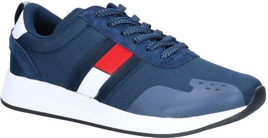 Tommy Hilfiger Flag Sneakers Blauw  Heren 40
