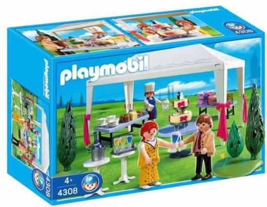 Bol playmobil partytent met gasten playmobil speelgoed
