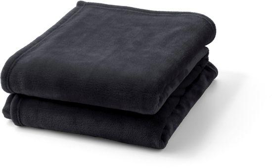 Plaid Flanel 150x200 cm zwart