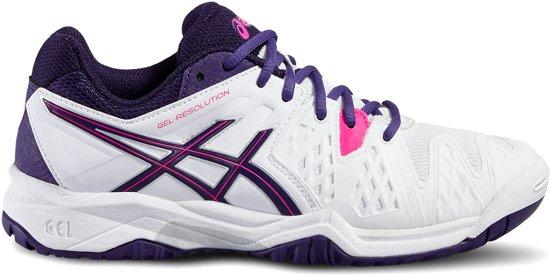 Asics Gel Resolution 6 GS wit tennisschoenen kids