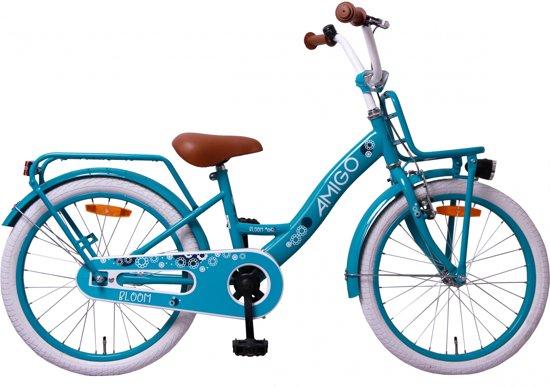 gratis bezorging bespaar hete producten Amigo Bloom - Kinderfiets - Meisjes - Turquoise - 20 Inch