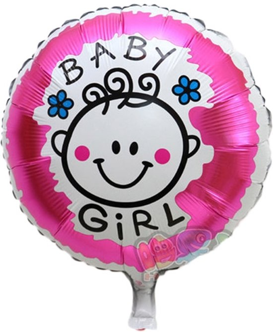 Bolcom Grote Xl Roze Ronde Ballon Its A Girl Voor Geboorte Meisje