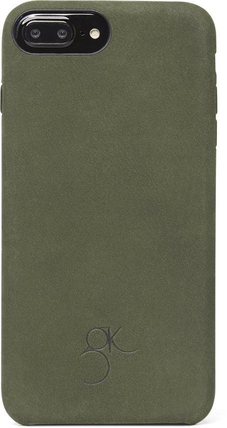 Decoded Back Cover - Premium Leren Hoesje voor iPhone 8 Plus / 7 Plus / 6s Plus / 6 Plus - Groen