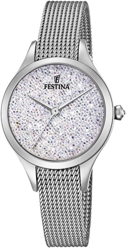 Festina Mademoiselle Swarovski crystals F20336/1 - Horloge - Dames - Zilverkleurig - Ø 31,8 mm