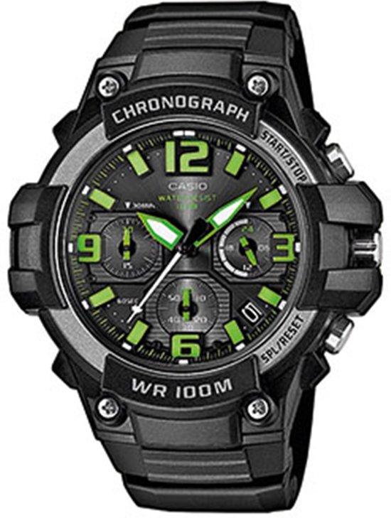 Casio MCW-100H-3AVEF - Horloge - Kunststof - Zwart - Ø 49 mm