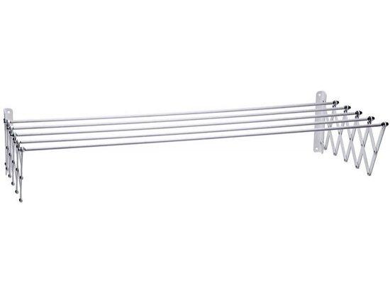 Uittrekbaar droogrek wit - staal - (wandmodel) 100x70