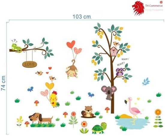 Muurstickers Babykamer Jongen.Muursticker Leuke Dieren Wanddecoratie Kinderkamer Babykamer Jongen Meisje Th Commerce Nr7136