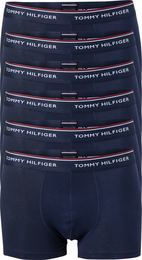 Actie 6 pack: Tommy Hilfiger boxershorts blauw Maat L