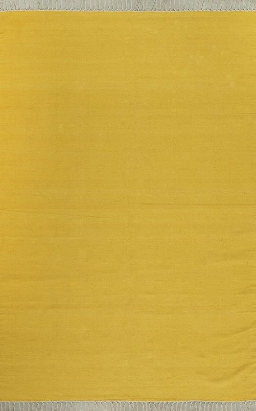 Kilim plain yellow 160x230