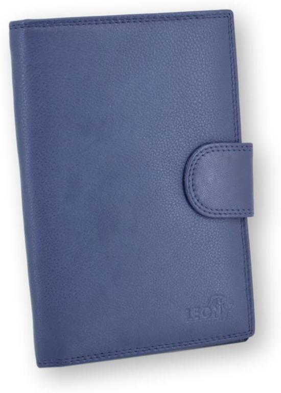 LeonDesign - 16-P2244-06 - mapje voor autopapieren - donker blauw - leer