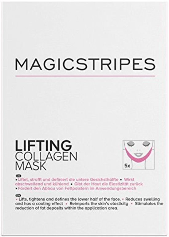 Magicstripes-lifting collagen mask-5 stuks