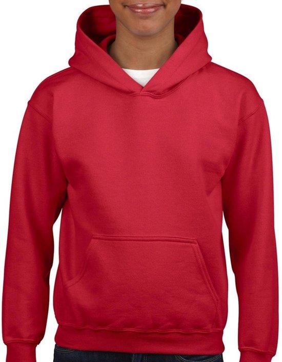 Rode capuchon sweater voor meisjes 122-128 (S)