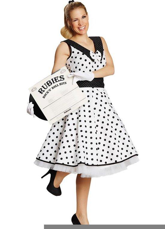 837b215dfcd1b5 Rock   Roll jurk zwart wit voor dame maat 40