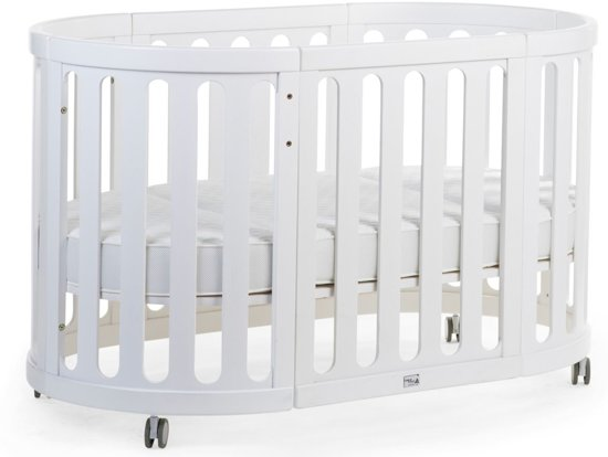 Bol.com childhome ovaal babybed wit 4 in 1 inclusief matras