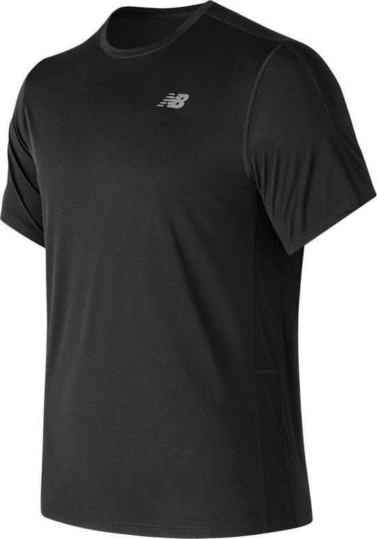 New Balance Accelerate Ss Sportshirt Heren - Black