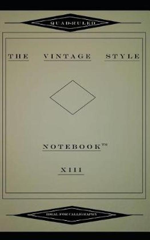 The Vintage Style Notebook XIII