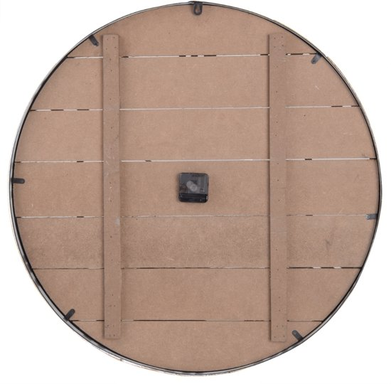 Dulaire Grote Wandklok Hout Mintgroen 70 cm - incl. batterij