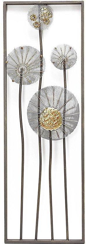bolcom wanddecoratie bloemen metaal thema bloem natuur