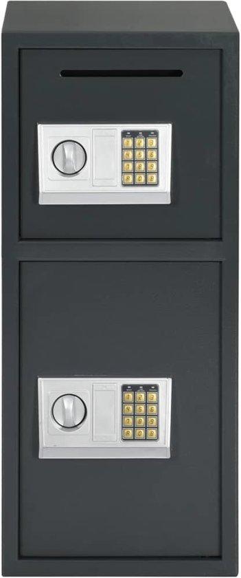 vidaXL Kluis digitaal met dubbele deur 35x31x80 cm donkergrijs