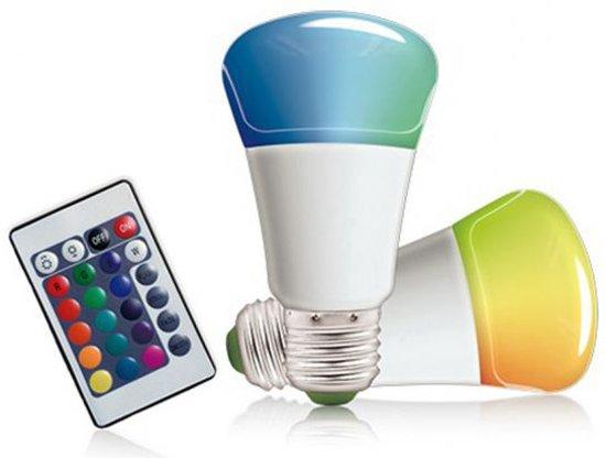 rgb led kleur lamp met afstandsbediening dimmer gloeilamp dimbaar 16 gekleurd e27 3